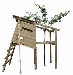 Baumhaus für Kinder - der Baum muss allerdings noch wachsen.