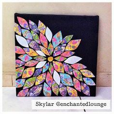 DIY Wall Art: DIY Flower Spread Wall Art