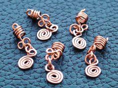 Sisterlock Hair Cuff Jewelry Copper Set of 5 by kawaiiAdornments, £6.50