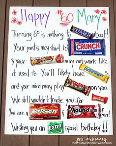 Birthday Candy Card Ideas How Sweet It Is Birthday Card Ideas Patty Stamps. Birthday Candy Card Ideas How Sweet It Is Birthday Card Ideas Patty Stamps. Birthday Candy Posters, Candy Birthday Cards, Birthday Fun, Birthday Crafts, Funny 60th Birthday Gifts, Birthday Jokes, Diy Birthday Poster, 60 Birthday Party Ideas, Grandpa Birthday
