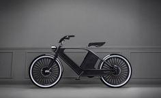 Cykno. Bicicleta eléctrica de estilo retro.