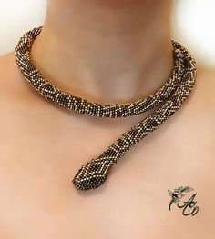 Beaded python snake necklace pattern