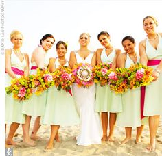 1000 Images About Pink And Orange Wedding Theme On