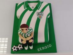 Tarta camiseta Futbol Bonavista. Horneando Ideas. Fictional Characters, Ideas, Creativity, Tarts, Chemises, Thoughts