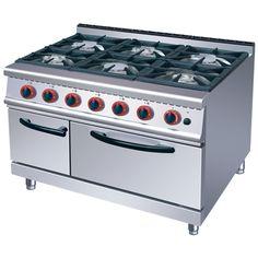 Cocina a gas de 6 fuegos con Horno alta gama línea 700 Worldmai