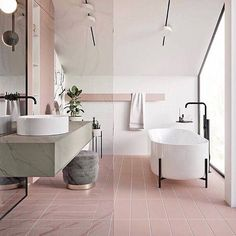 What are the current trends in bathroom design? Are there any specifics? Like any other part of the home, the bathrooms are sensitive towards fashion and design bathroom decor Bathroom Trends 2019 / 2020 – Designs, Colors and Tile Ideas Bathroom Taps, Bathroom Flooring, Small Bathroom, Bathroom Black, Bathroom Furniture, Master Bathroom, Bathroom Modern, Bathtub Decor, Black Bathtub