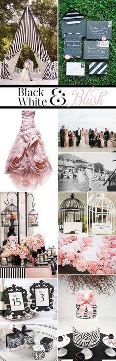 On the Blog: Inspiration Black, White & Blush