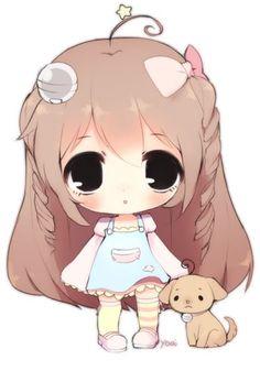 this character was soooo fun to draw i love the design so much wow - i hope you like it! she's a beromimi by Puniuu! (Reference for forward facing chibi) Cute Anime Chibi, Manga Cute, Kawaii Chibi, Kawaii Art, Anime Child, Anime Art Girl, Kawaii Drawings, Cute Drawings, Gifs Kawaii