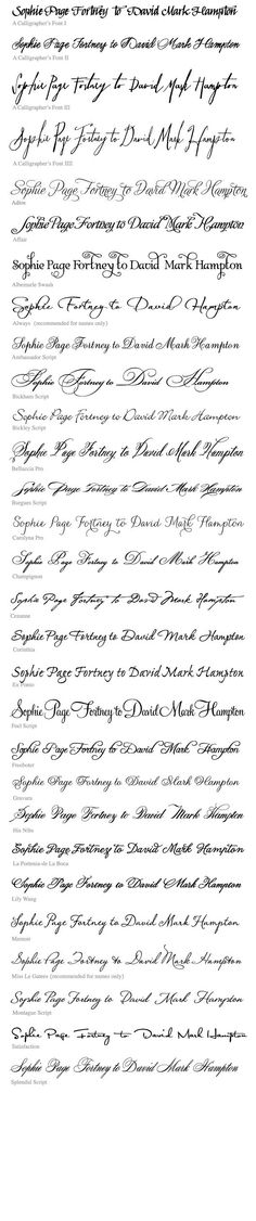 Tattoo fonts.