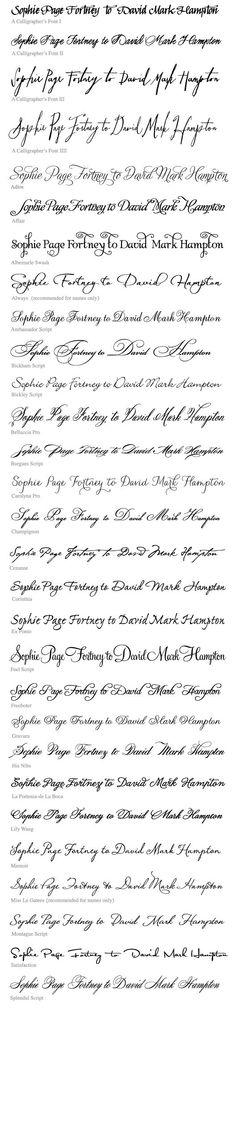 Tattoo fonts.