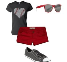 5. APPROPRIATE Sports event: this outfit looks comfortable enough to sweat in if its too hot and hike quite a ways to get to the stadium. It doesn't seem to heavy or dressy for a baseball game.