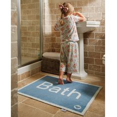 Hug Rug Bath Mat Bath 11. A highly absorbent cotton rich pile and a white, waffle style backing to give excellent grip on a hard bathroom floor. Machine washable at 30*C year after year.