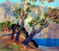 Hermen Anglada Camarasa (Barcelona, 1871-1959)  La  Caleta, Mallorca