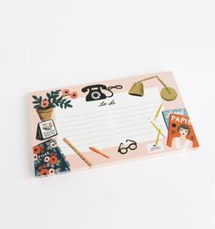 Desktop Tear-off notepad - So cute! By RiflePaperCo.com and Paper Crown (Lauren Conrad)