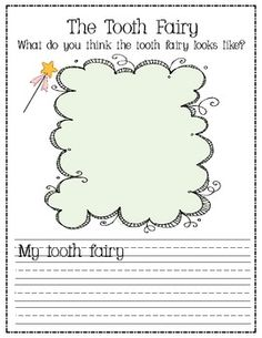 Free tooth fairystory, craft and activities! Health Literacy, Health Unit, Health Activities, Writing Activities, Preschool Activities, Kindergarten Writing, Teaching Writing, Writing Prompts, Teeth Dentist