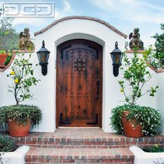 Laguna Beach, CA - Spanish Mediterranean Courtyard Gate Design by Dynamic Garage Door