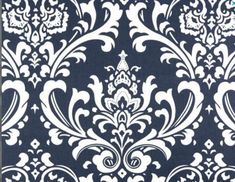 Navy Blue White Damask Home Decorating Fabric - Premier Prints. Possible duvet? Floral Fabric, Blue Fabric, Floral Prints, Turquoise Fabric, Damask Curtains, Drapery Fabric, Chair Fabric, Damask Wall, Blue Curtains