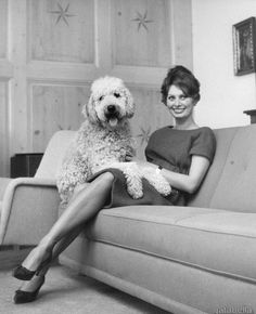 Sophia Loren in her villa in Burgenstock, Switzerland, 1950s
