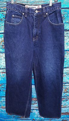 09d4af9b Anchor Blue Mens HUGE 90s Baggy Cotton Skater Punk Denim Jeans 32x30 Act  28x30 90s Jeans