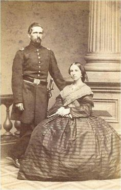 CDV of a nice looking couple, the lady is wearing an interesting knitted sontag