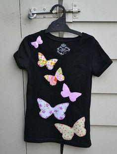 Аппликация бабочек