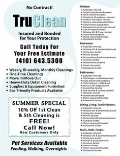 Truclean House Cleaning Flyer