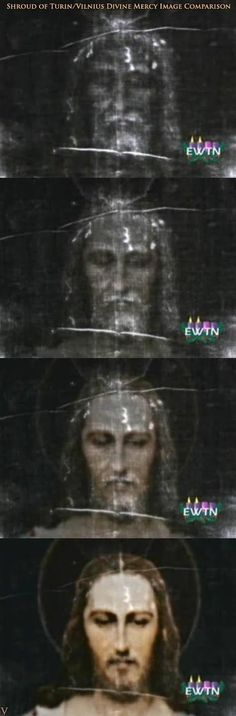 Vilnius Divine Mercy Image Superimposed On The Shroud Of Turin. Pretty Awe-Inspiring!