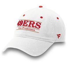 Men s San Francisco 49ers NFL Pro Line by Fanatics Branded White Classic  Bar Adjustable Hat 083e2fcc0bd7