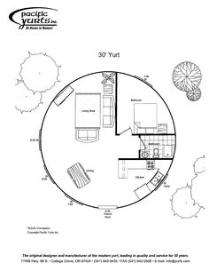 If i can never have my dream house, ill settle for this, on lake superior. Def needs a Window inthe bathroom. Would make the main sleeping area lofted for evenmore space. Round House Plans, Small House Plans, House Floor Plans, Yurt Interior, Yurt Home, Yurt Living, Silo House, Dome House, Geodesic Dome