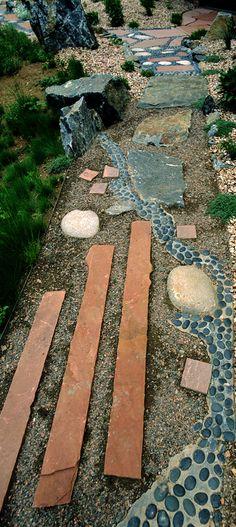 Creative garden paths.