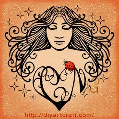 #angel #ladybug #tattoo #monogram CN