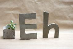 DIY: Cement Monogram Letters