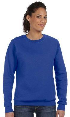 Anvil Ladies Ringspun Crewneck Sweatshirt  ROYAL BLUE  XL Color Roy Blue Size XLarge Model 71000L * Click image to review more details.