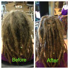 Dreadlock maintenance  #dreads #dreadlockmaintenance #caucasiandreadlocks