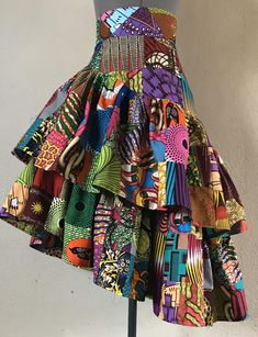 African Fashion Skirts, African Print Dresses, African Print Fashion, African Dress, Fashion Prints, African Print Skirt, Afrocentric Clothing, Mid Length Skirts, Patchwork Dress