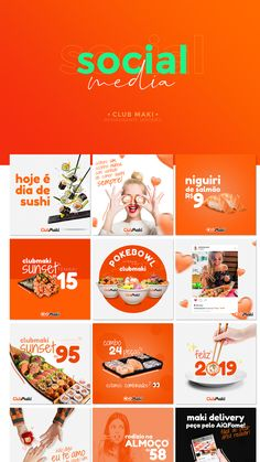 The Best Orange Style Social Media Designs Cultural press is considered the buzz-phrase from the Social Media Bar, Social Media Poster, Social Media Branding, Social Media Graphics, Social Media Marketing, Corporate Design, Social Media Design, Branding Design, Food Graphic Design