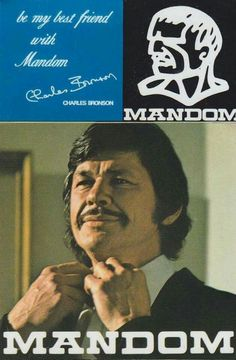 Japanese ads to featuring Charles Bronson, Mandom Corporation, Osaka Japan Charles Bronson, Vintage Comic Books, Vintage Comics, Retro Advertising, Fun Size, Poster Ads, Old Tv Shows, Old Ads, Book Cover Art