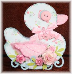 Baby Girl Duck Card!