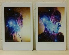 Instax mini double exposure self-portrait