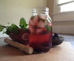 Blackberry Mint Infused Water - Instant Because... | Infused Waters: Fruit & Herb Spa Water Recipes