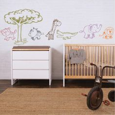 Safari  animals Nursery wall decals kids mural by ParkLaneCouture, $32.40