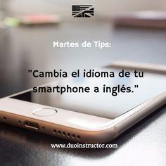 """#MartesDeTips para aprender inglés: """"Cambia el idioma de tu smartphone a inglés.""""  Una técnica de inmersión para comenzar progresivamente a ver tu vida en inglés es hacer pequeños cambios. Hacemos un All-in a que si cambias tu teléfono a Chino Mandarin, aun podrías seguir utilizándolo 😁. Así que ve a configuraciones/idioma/Inglés y continúa aprendiendo! #esl #aprendeinglés #inglés #coachingEnInglés #Rancagua #personalización"""