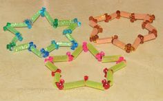 Straw, Pipe cleaner and Tri beads Star   Craft To Art