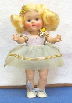 1951 Vogue Ginny doll with blonde hair.