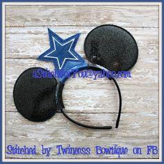 Mouse Ear Headband - Cowboy fans football star