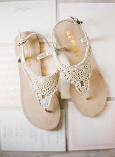 Gorgeous lace sandals