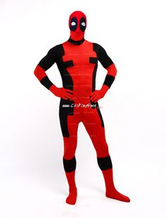 DeadPool Costume,DeadPool Morphsuit