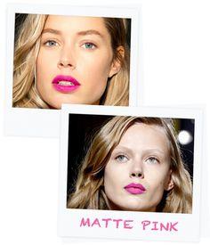 A bright pink matte lip #springbeauty