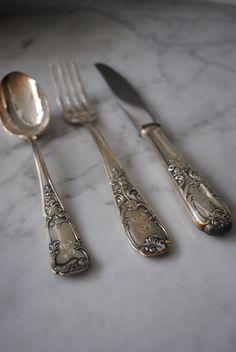 .monogrammed silverware.
