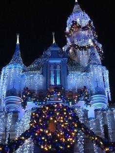 Frozen Castle, Disney Castles, Disneyland Christmas, Christmas Planning, Park Photos, Disney Parks, Restaurants, Goodies, Christmas Tree